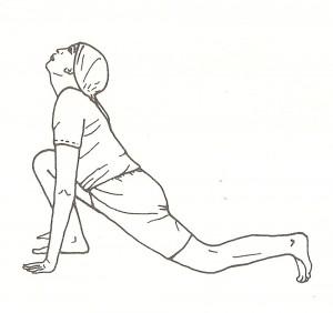 ashwa sanchalanasana, posizione equestre