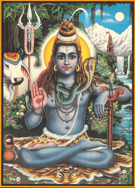 Shiva, Signore dello Yoga, cui è dedicato il Mahamrityunjaya Mantra
