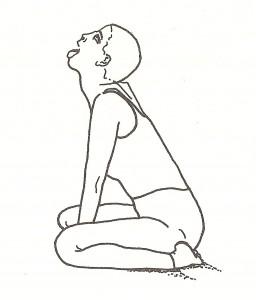 simhasana (posizione del leone) - vista di profilo