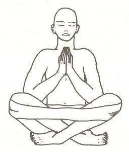 Sukhasana (posizione facile) - variante