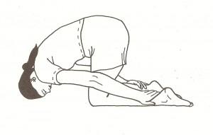 pranamasana (posizione dell'inchino)