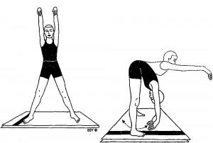 Utthita lolasana (posizione dell'oscillazione in piedi)