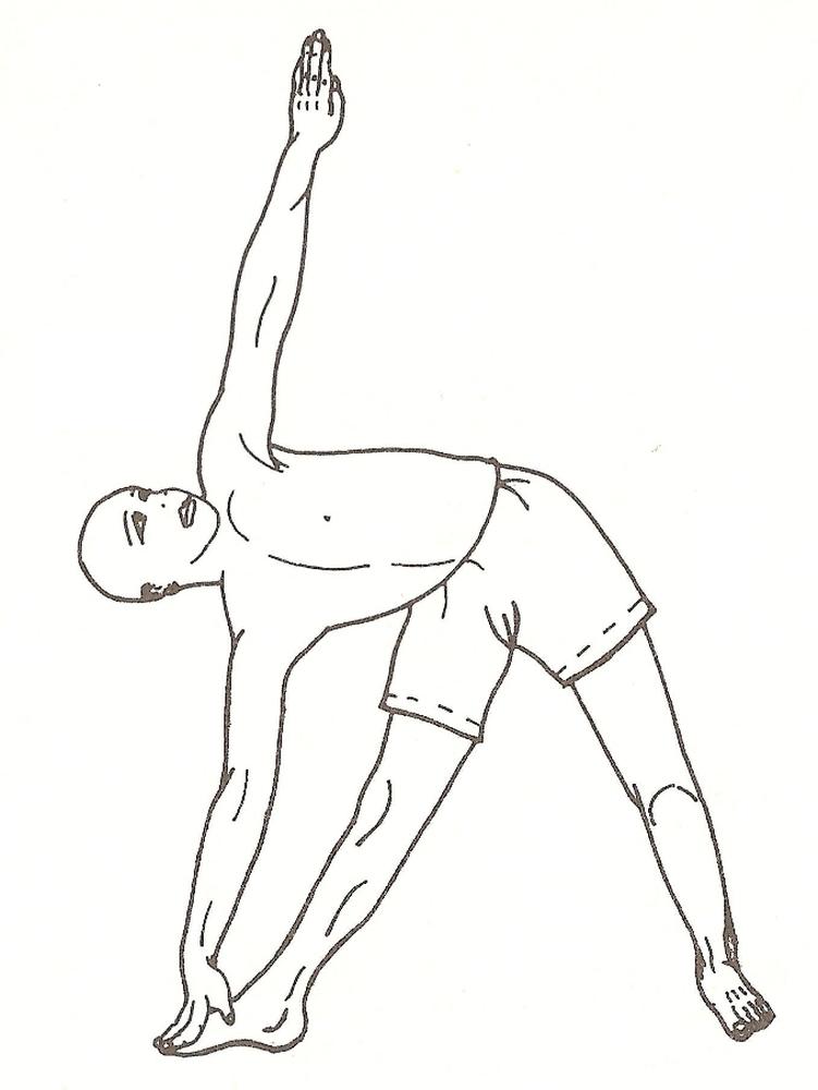 Trikonasana (posizione del triangolo) - pratica avanzata