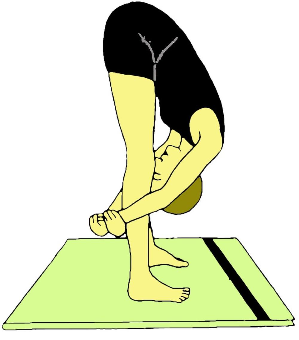 Utthita Janu Sirshasana (Posizione in piedi con la testa tra le ginocchia)