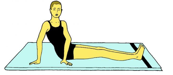 Bhu namanasana (Posizione di torsione e flessione spinale)