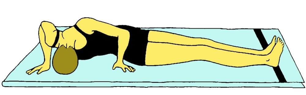 Bhu namanasana (Posizione di torsione e flessione spinale) - Fase 2