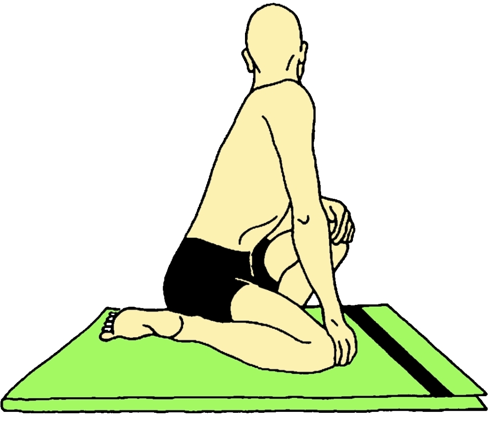 Udarakarshanasana (Posizione del massaggio addominale)