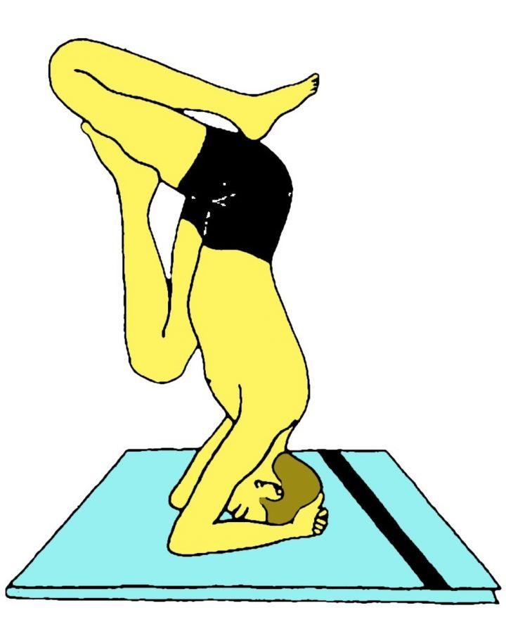 Kapali Asana (Postura appoggiata sulla fronte) - variante 2