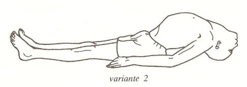matsyasana - variante 2
