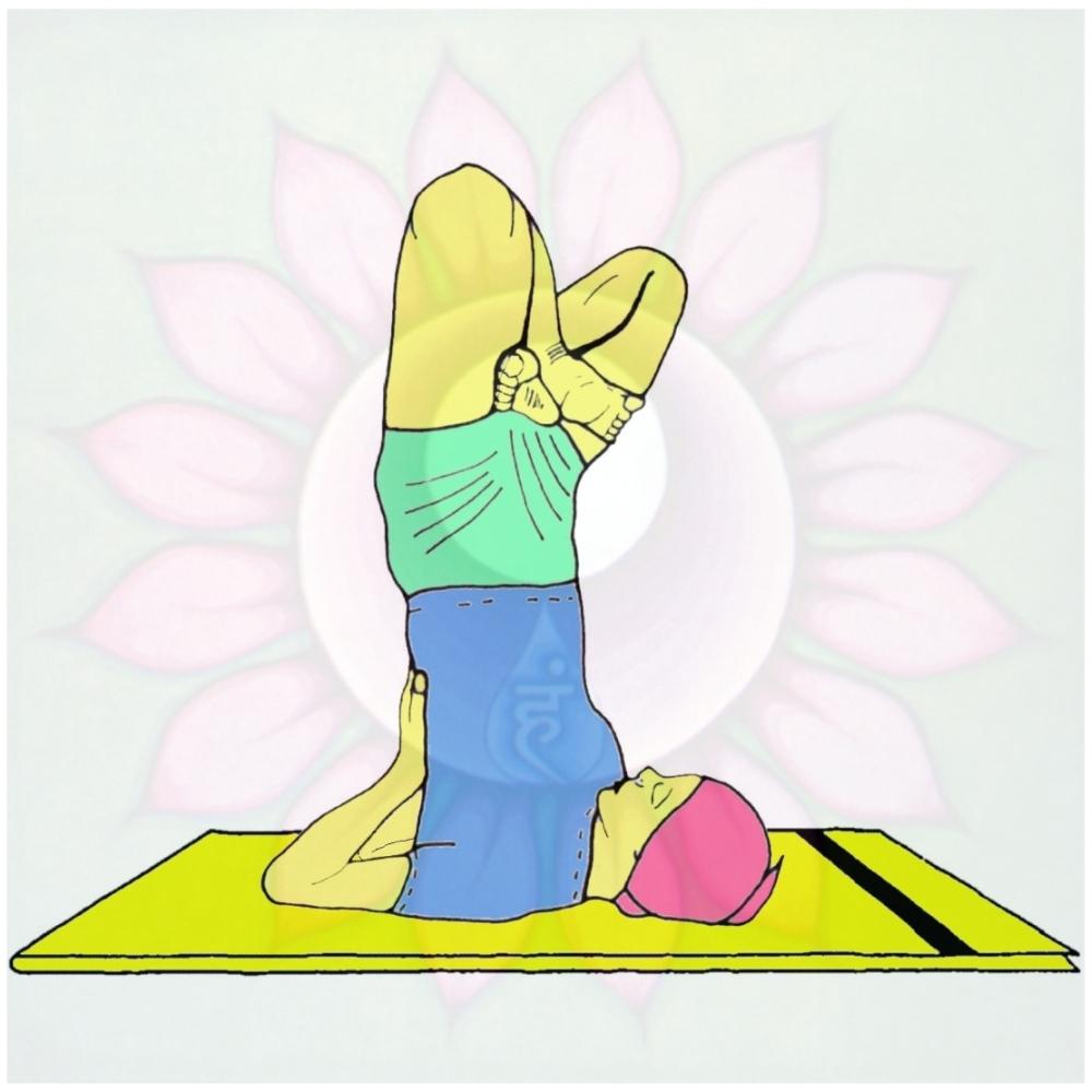 Padma Sarvangasana (Postura del loto sulle spalle)