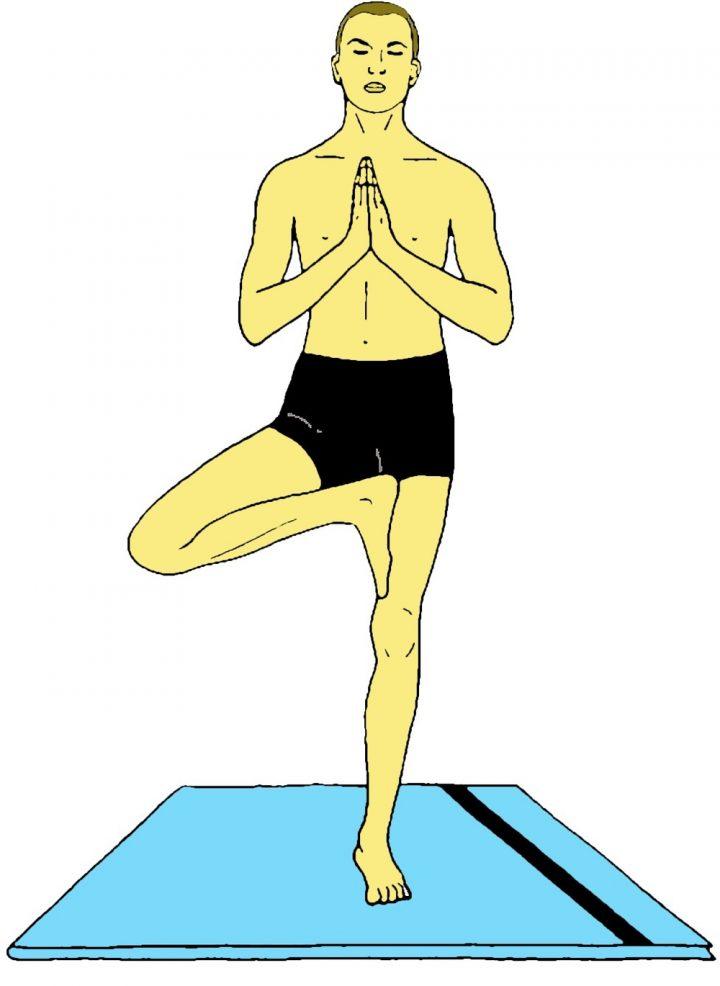 Eka pada pranamasana (Posizione di preghiera su una gamba)