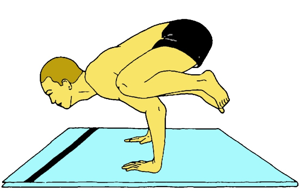 Baka Dhyanasana (Postura della gru paziente)