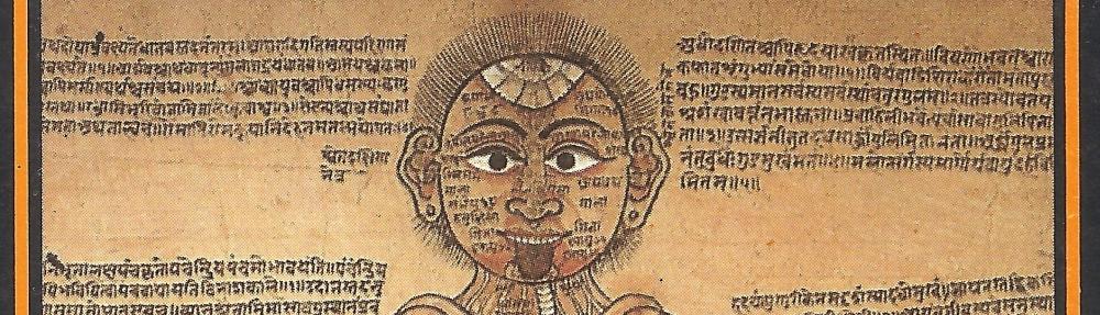 Dipinto nepalese del secolo XVIII raffigurante gli organi interni secondo l'Ayurveda