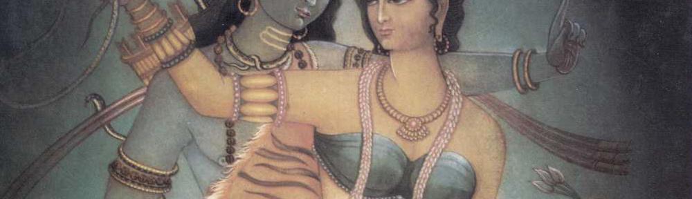 Le figure mitologiche di Shiva e Shakti per simboleggiare vama marga