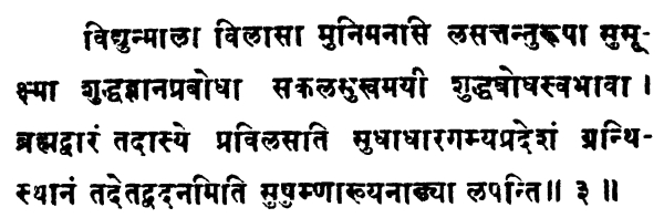 Shatchakranirupana - versetto 3