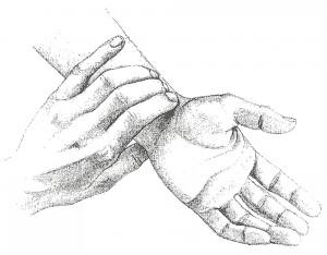 Nadi Vigyan - posizione della mano