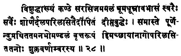 Shatchakranirupana - versetto 28