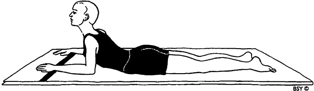 Saral bhujangasana (posizione facile del cobra)