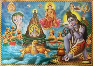 samudra manthan: Shiva beve il veleno Halahala