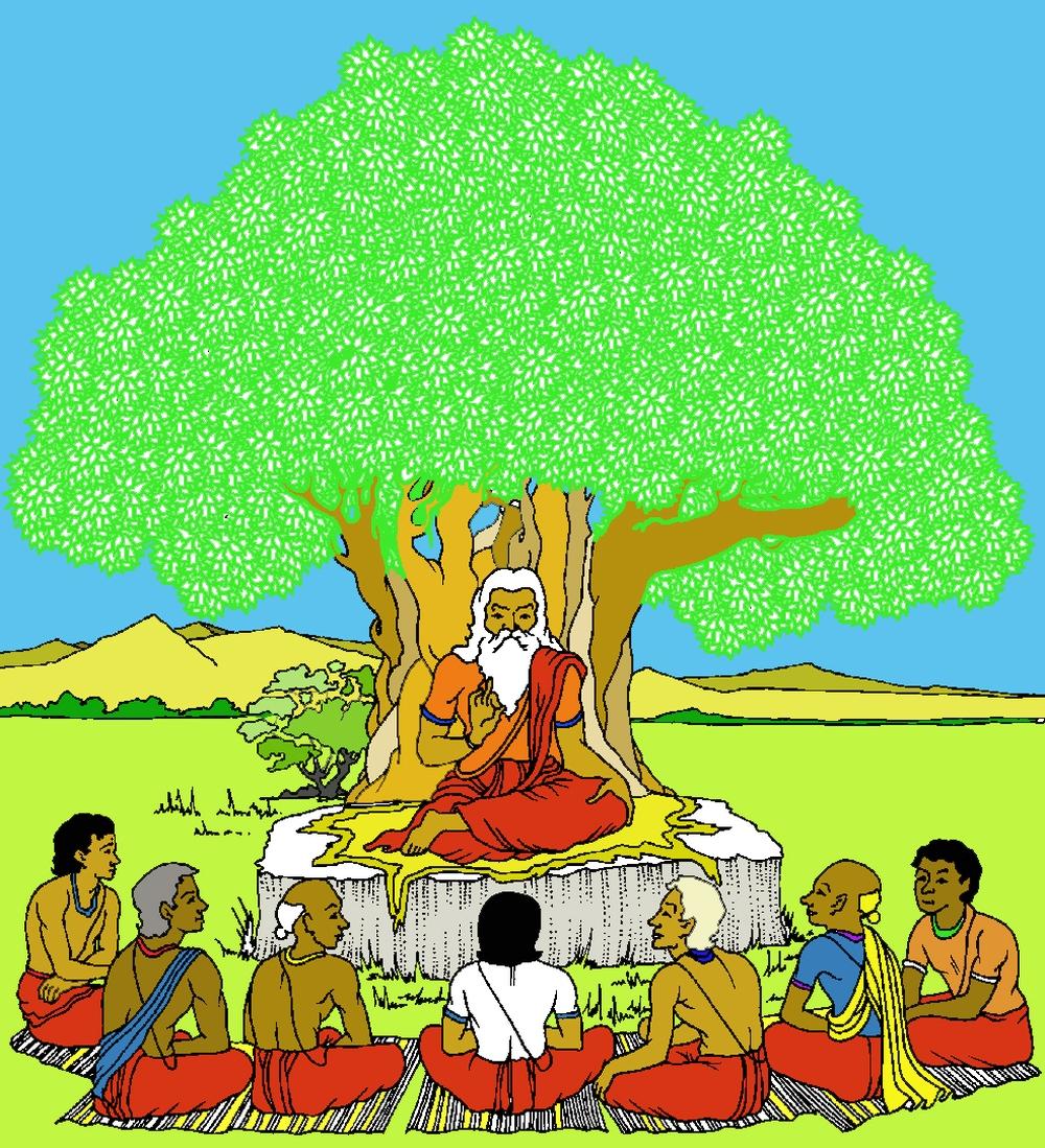 un vaidya coi suoi discepoli