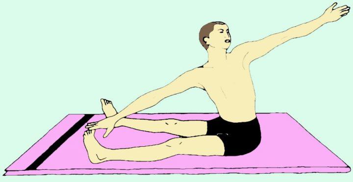 Gatyatmak Meru Vakrasana (Torsione dinamica della colonna vertebrale)