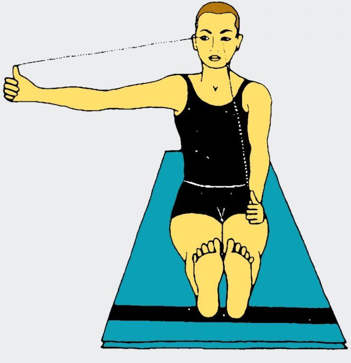 Esercizi yoga per gli occhi - Guardare di fronte e di lato