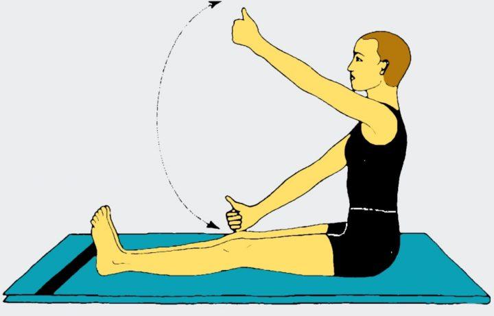 Esercizi yoga per gli occhi - Guardare in alto e in basso