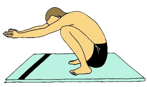 Namaskarasana - posizione finale