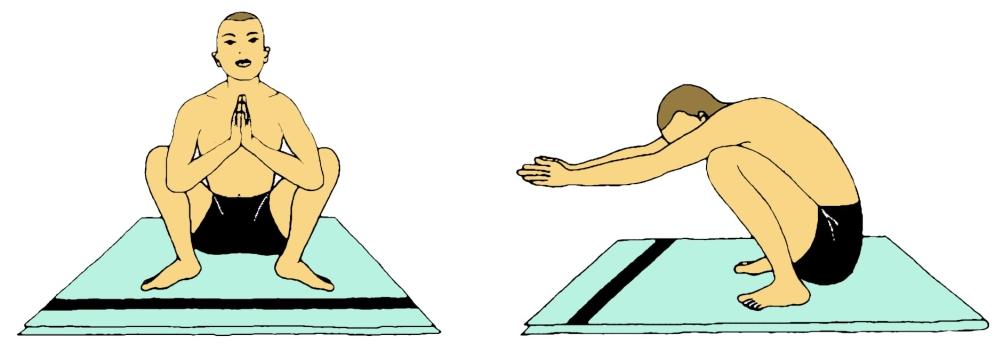 Namaskarasana (Postura del saluto)