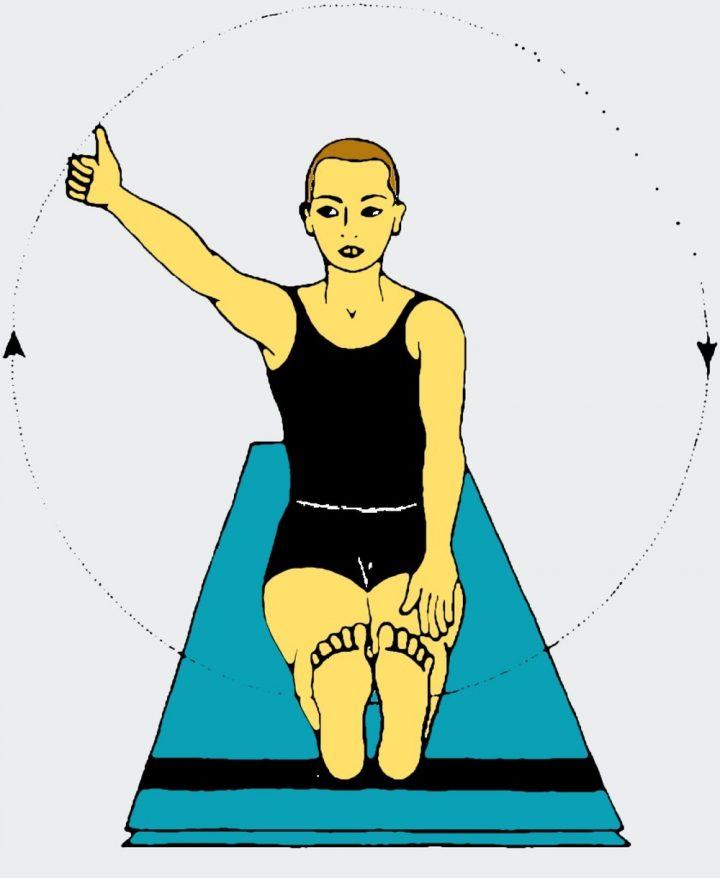 Esercizi yoga per gli occhi - Rotazione dello sguardo